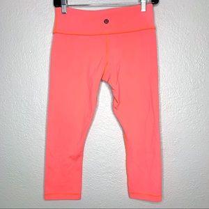 Lululemon pink cropped workout pants size 6